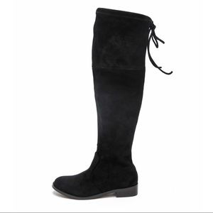 Very Volatile Faux Suede Over The Knee Boots